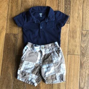 Baby boy blue outfit sz 12-18 mos